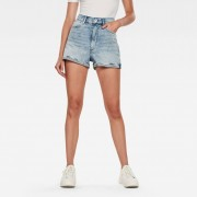 G-star RAW Femmes Short Tedie Ultra High Bleu clair