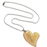 Men Style New Arravial Love Gold Stainless Steel Heart Shape Pendent For Men And Women