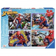 Marvel Spiderman puzzle 4x100pcs