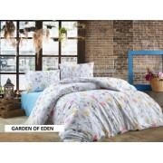 Set Lenjerie pat dublu Studio Casa New Garden of Eden 100 Bumbac Ranforce Cearceaf pat 220 x 240 cm