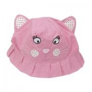 Palarie roz bebelusi model pisica