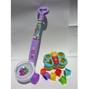 Fisher Price Exclusive Purple Corn Popper with Butterfly Shape Sorter