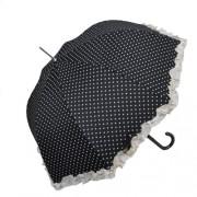 Clayre & Eef W4PLU0001Z Esernyő 93x90cm fekete szives