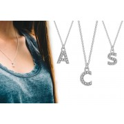 Silver Supermarket Ltd £7.99 for a pavé letter necklace made with crystals from Swarovski ® from Philip Jones Jewellery