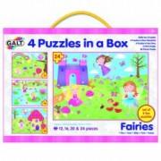 Set 4 puzzle-uri Zane 12 16 20 24 piese
