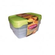 Set 3 cutii alimente din plastic dreptunghiulare Curver Foodk 1.2 L