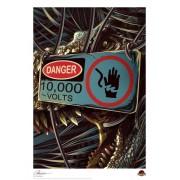 Peinture imprimée Jurassic Park - Danger - FNTK-UV-JP-14