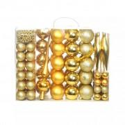 Sonata Комплект коледни топки от 113 части, 6 см, злато