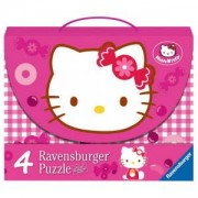Детски Пъзел - 4 в 1 промо, Hello Kitty, Ravensburger, 706661
