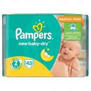 PAMPERS New Baby-Dry 2 MINI 4-8 kg 43 kusů