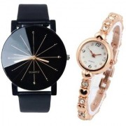 New Crystle Glass Men Professional With Rose Golden Diamond Designing Cupple Watch