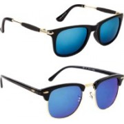 shadz Wayfarer, Clubmaster Sunglasses(Blue)