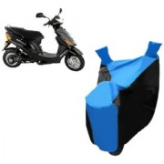 KAAZ Blue with Black Two Wheeler Cover For Electric Wave Dx Hero Electric Bikes
