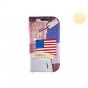 Кожен калъф за Samsung Galaxy S3 с американския флаг