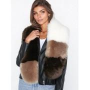 NLY Accessories Mixed Long Fur Collar Halsdukar & Scarves Flerfärgad