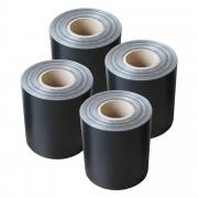 Комплект от 4 броя фолио за ограда [neu.haus] ®, предпазва от любопитни погледи, вятър или звукове, 19 cm x 35 m / 7m²,Черно, с UV защита