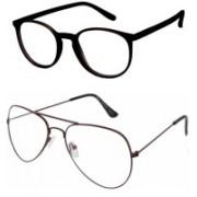 Barbarik Aviator, Cat-eye Sunglasses(Clear, Clear)