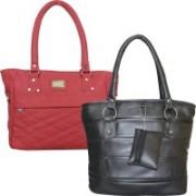 Element Cart Women Black, Pink Messenger Bag(Pack of: 2)