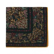 Drake's Printed Wool/Silk Mythical Forest Pocket Square Wine
