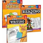 180 Days of Reading, Writing and Math for Third Grade 3-Book Set, Paperback