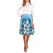 Simpo da donna gonna Blue Flowers - M/L