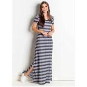 Vestido Longo Tye Dye de Listras Moda Evangelica