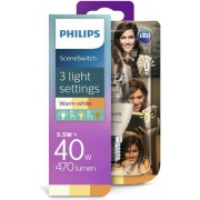 Philips LEDlamp SceneSwitch 3 standen 40W E14