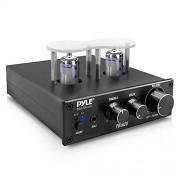 Pyle PVTA20 Receptor estéreo de Amplificador de Tubo de aspiradora estéreo de 600 W con 2 Tubos de aspiradora, entradas AUX/MP3/micrófono, Salida de Altavoz de Cobre Puro