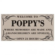 """""""USA Novelty Number Plate - Welcome To Poppys"""""""