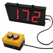 BTBSIGN LED Up/Down Counter with Switch Box & Remote Red 4'' 3 Digit LED Display