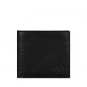Maxwell-Scott Leder Geldbörse mit Münzfach in Schwarz- Weiches Leder - Brieftasche, Portemonnaie, Geldbeutel, Kreditkartenetui