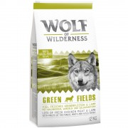 2x12kg Wolf of Wilderness Green Fields com cordeiro ração