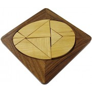 "Handmade Wood Egg Tangram Puzzle With 9 Pieces - Puzzles and Games 6 Inches 6"" x 6"