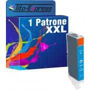 Tito-Express PlatinumSerie PlatinumSerie® 1x inktcartridge XXL voor Canon CLI-551XL Cyan Canon Pixma IP7250 MG5450 MG6350 MX725 MX925