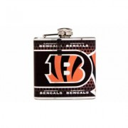 Great American Products Stainless Steel NFL Team Flasks Cincinnati Bengals Gray
