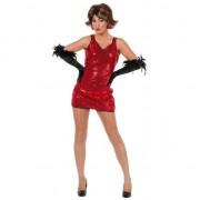 Merkloos Rood glitterjurkje voor dames 40 (L) - Carnavalsjurken
