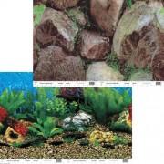 PENN PLAX Akvárium háttér kétoldalas 50cm/15m Hawaii Blue /Boulders