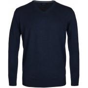 Profuomo Pullover V-Hals Marine - Blau Größe XL