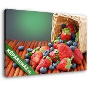 Gyümölcskosár (35x25 cm, Vászonkép )