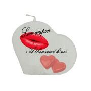 Valentijn hartkaars - Love coupon