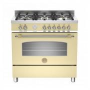 BERTAZZONI cucina HERITAGE HER905MFESCRE 90 cm libera installazione 5 fuochi gas griglie in ghisa forno multifunzione Classe A