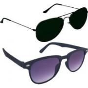 Fash-On India Aviator Sunglasses(Multicolor, Black)