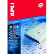 APLI Etykiety uniwersalne APLI AP3134 70x35mm białe 100ark.