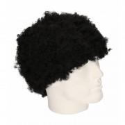 Merkloos Feestartikelen Pruik korte zwarte afro krulletjes