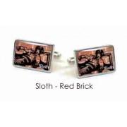 Tyler & Tyler Stencilart 7 Deadly Sins Red Brick Cufflinks Sloth