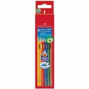 Creioane Colorate 6 culori Grip 2001 Faber-Castell