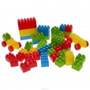 Cuburi colorate de construit Dolu, 35 piese, 18 luni+