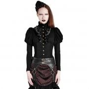 košile dámská PUNK RAVE - Queen of hearts - Black - Y-681_B