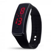 Reloj pulsera de silicona pulsera LED - Negro (2 * LR1130)