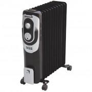 Calorifer electric HAUSBERG HB-8920, 11 elementi, Putere 2500 W, 3 trepte de putere, Termostat de siguranta, Termostat reglabil